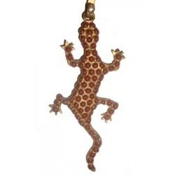 Salamander Necklace - Coral