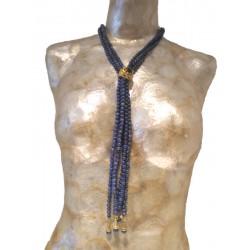 Ring Lapislazuli & Onyx Necklace