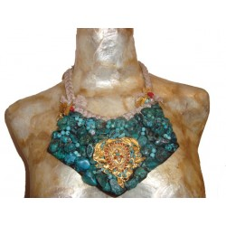 Chest Large Turquoise Medallion With Gross